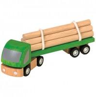 Spielzeugauto Holztransporter Plantoys