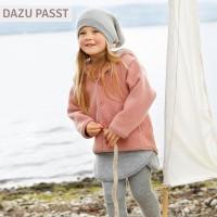 Vorschau: Wolle Wintermütze breiter Ohrenschutz altrosa