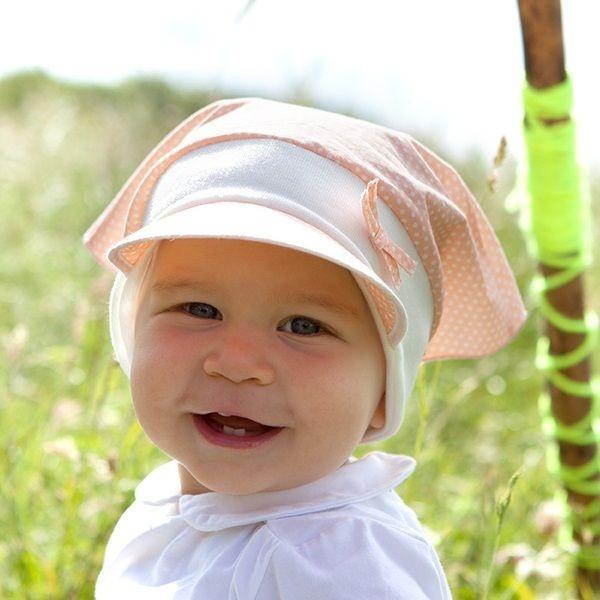 Bio Kopftuch als Schirmmütze von pure pure - pastell altrosa