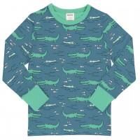 Langarmshirt mit Bündchen Krokodile blau