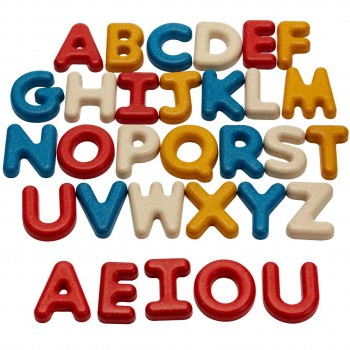 Holzbuchstaben ab 2 Jahren – Großbuchstaben