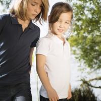 Vorschau: Polo Shirt für Jungen & Mädchen - sportlich - weiß
