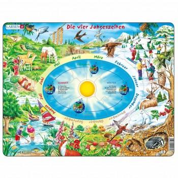 Lernpuzzle Jahreszeiten für Kinder ab 5 Jahre