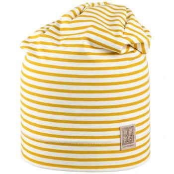 Leichte Beanie Streifen in gelb