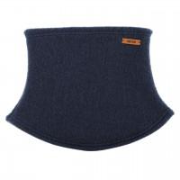 Schlauchschal aus Schurwolle Fleece jeans-blau