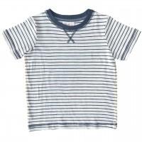 Leichtes Jungen T-Shirt Ringel anthrazit