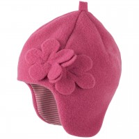 Pinke elegante Wintermütze ohne Band