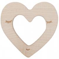 Holz Beißring und Greifling Herz
