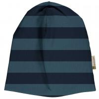 Leichte Beanie navy Streifen Design