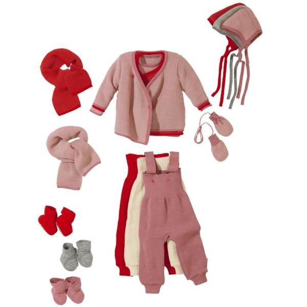 Baby Wickelpullover disana rosa
