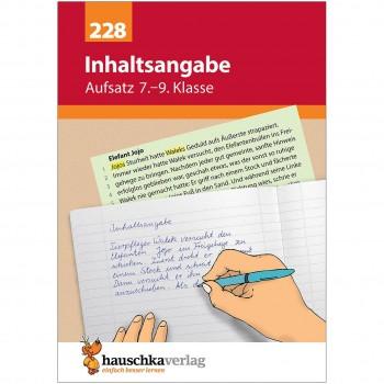 """Übungsheft Aufsatz """"Inhaltsangabe"""" 7. bis 9. Klasse"""