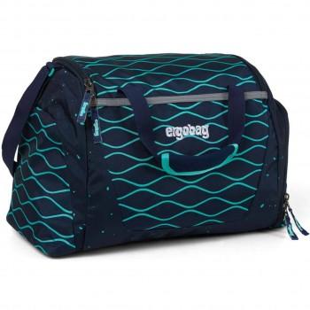 Kinder Sporttasche 20 Liter blaue Wellen