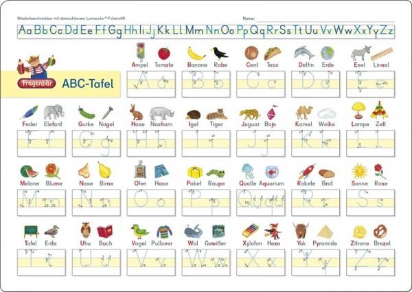 ABC Lerntafel abwischbar ab 5 Jahre