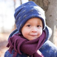 Coole Kinder Wintermütze ohne Band sterne