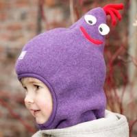 Schlupfmütze mit Schal super für Waldkindergarten