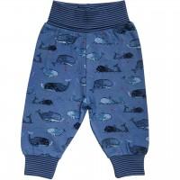 Babyhose Bündchen Wale jeansblau