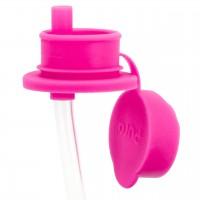Sportverschluss mit Trinkhalm für alle Pura Flaschen pink