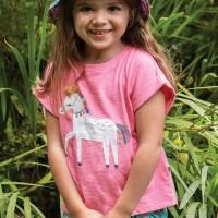 Leichtes Mädchen T-Shirt Pferd