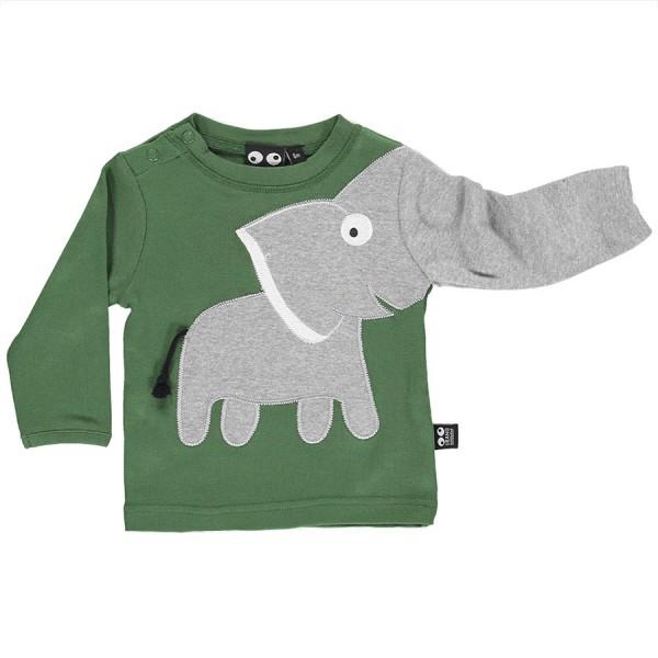 Grünes Elefanten Langarmshirt