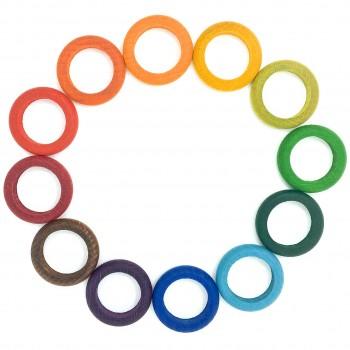 Rings 12er Set in 12 Farben f. Jahreszeitenkalender ab 18 M.
