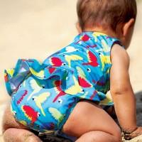 Mädchen Baby Badeanzug Papagei