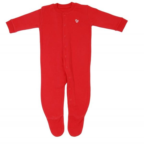 Schlafanzug Einteiler mit Druckknöpfen - warm und kuschelig