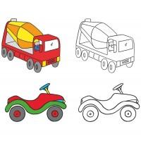 Vorschau: Fahrzeuge Malbuch ab 2 Jahre