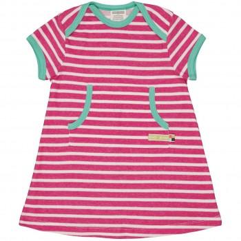 robustes leichtes Kleid Ringel in pink