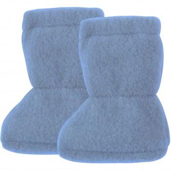 Wolle Babyschuhe als Socke in blau