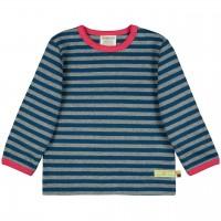 Dickeres Jersey Shirt grau/dunkelblau langarm