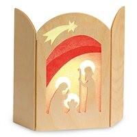 Transparent Christi Geburt Weihnachtsdeko