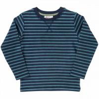 Warmes Shirt langarm Ringel dunkelblau