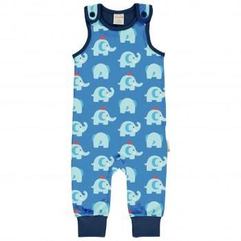 Leichter Elefanten Strampler in blau