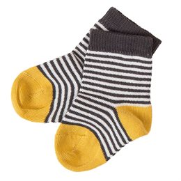 Babysocken leichter Strick anthrazit gestreift