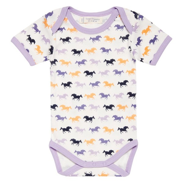 Bio Babybody Fairtrade Pferde