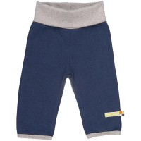 Bio Wolle als Fleece Hose marine