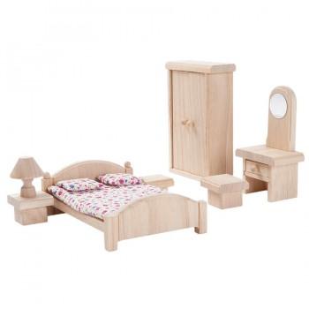 Schlafzimmer naturbelassen Puppenhaus Möbel