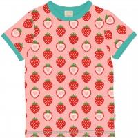 Erdbeer Shirt kurzarm rosa