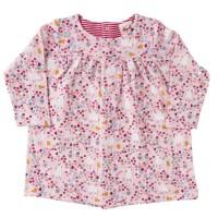 Langarm Kleid Hühnerwiese rosa