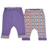 Vorschau: Wendehose für Babys & Kinder - doppellagig - lila