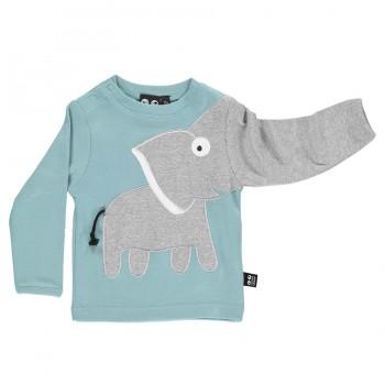 Elefanten Langarm Shirt klassisch hellblau