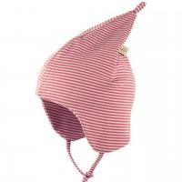 Leichte Zipfelmütze doppellagig sehr dehnbar rosa