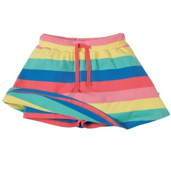 Rock mit Shorts - 2in1 rosa Regenbogen