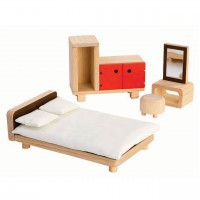 Puppenhaus Zubehör Schlafzimmer orange