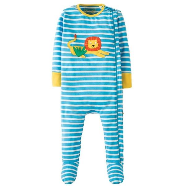 Baby Schlafanzug mit freundlichem Löwen