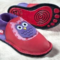 """Vorschau: Kindergarten Softschuh """"Eulalia"""" + rutschfester Silikon-Filz"""