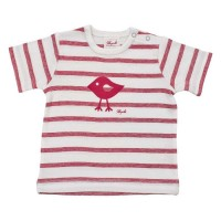 Leichtes Shirt aus feiner Rippe - dehnbar & bequem - rot