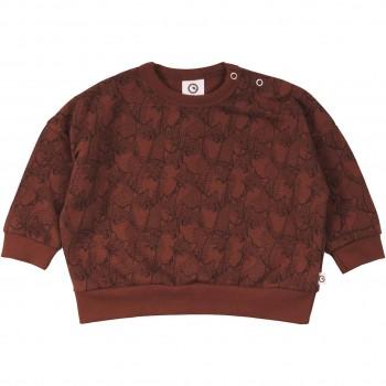 Sweatshirt mit Füchsen in rotbraun