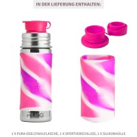 Vorschau: Thermo Sportflasche Flasche 260 ml ab 2 - open end rosa lila
