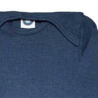 Vorschau: Cosilana atmungsaktiver Body Wolle Seide marine